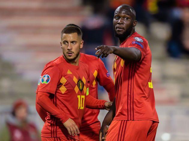 Eden Hazard and Romelu Lukaku for Belgium