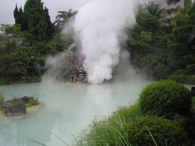Suối nước nóng Hội Vân. (Ảnh: vietnamtourism)