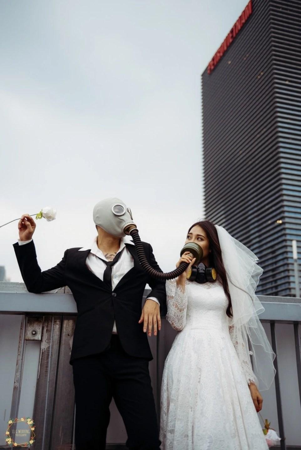 Bộ ảnh đeo mặt nạ cảnh báo ô nhiễm không khí gây ám ảnh dân mạng - 6