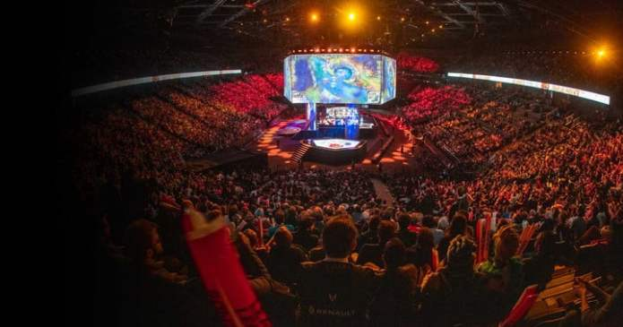 Crowds gather at the 2019 League of Legends World Championship.