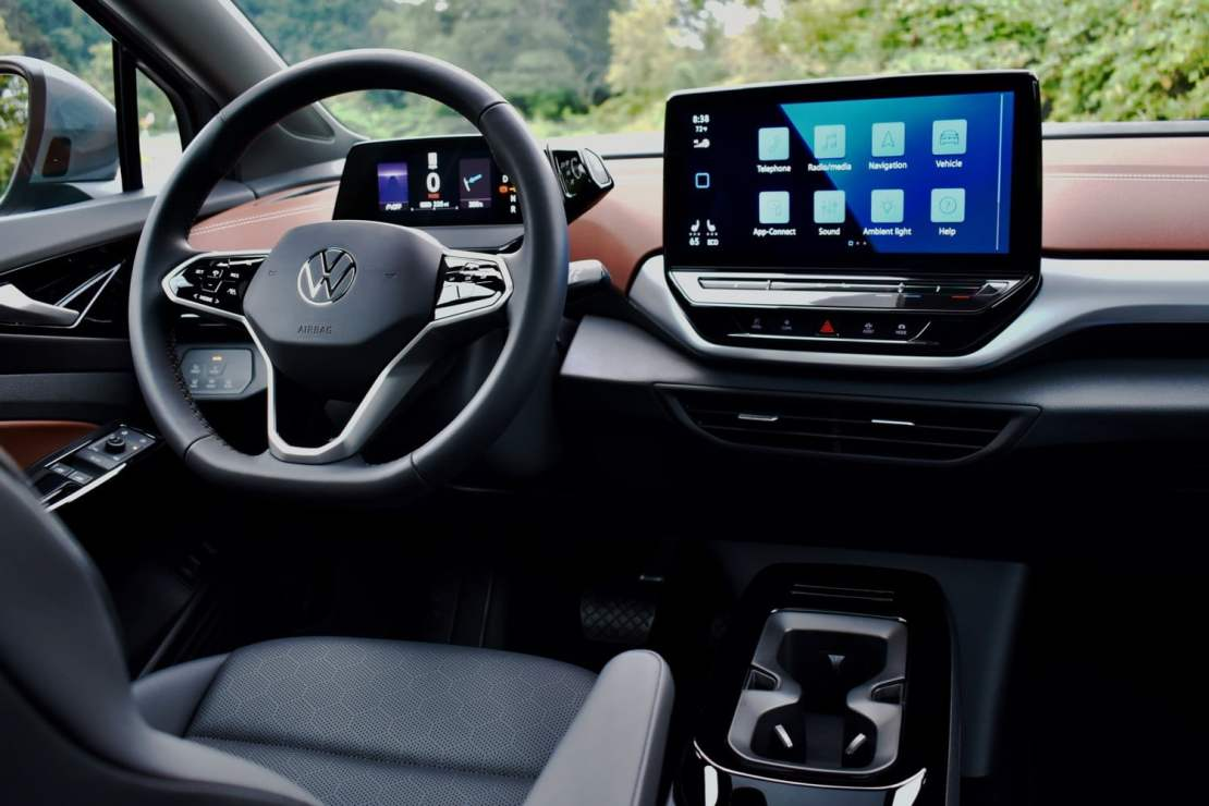 Interior view of the 2021 Volkswagen ID.4 AWD.