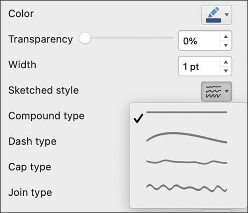 The new pen strokes in Microsoft Word.
