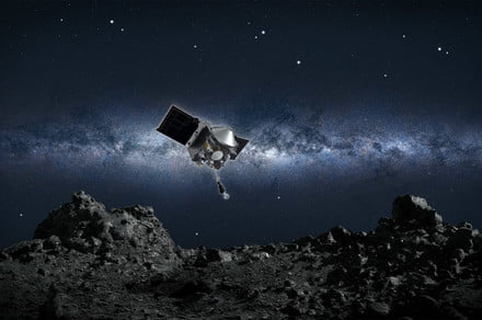 NASA spacecraft begins long journey home with asteroid sample