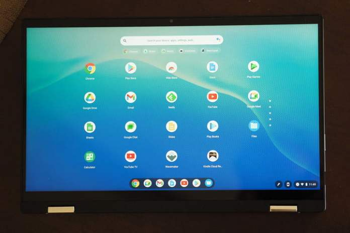 Close up of the Acer Chromebook Spin 514's display.