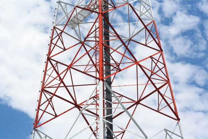 A dysfunctional cell phone tower may cause a lack of signal.