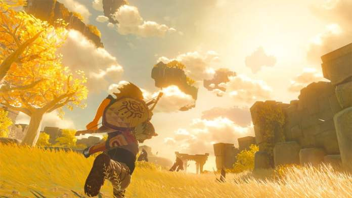 Link runs across Hyrule in the sequel to Breath of the Wild.