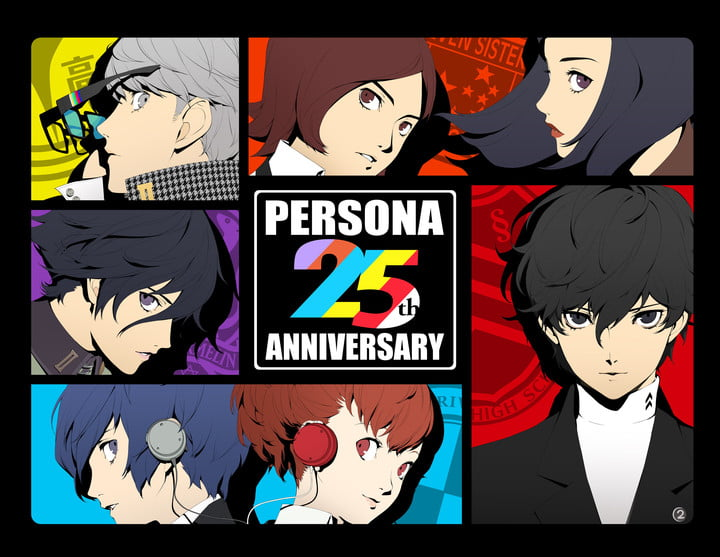 Promo art for the 25th anniversary of the Persona franchise.