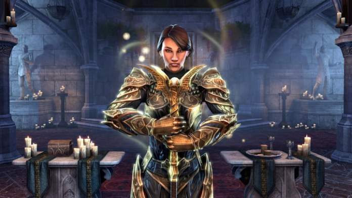 ESO Templar in a cathedral.