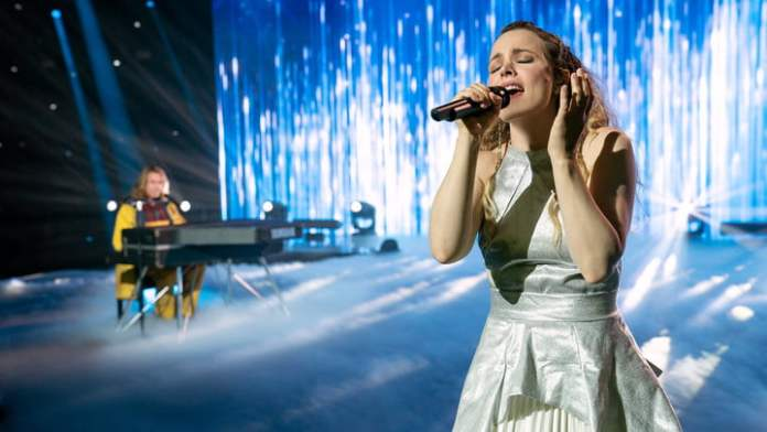 Rachel McAdams at the Eurovision Song Contest: The Story of Fire Saga.