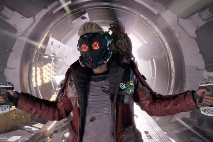 Star Lord from Guardians of the Galaxy with two cannons.