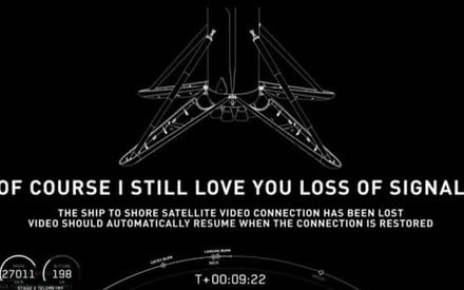 Why does SpaceX's droneship livestream cut out when its rocket lands?