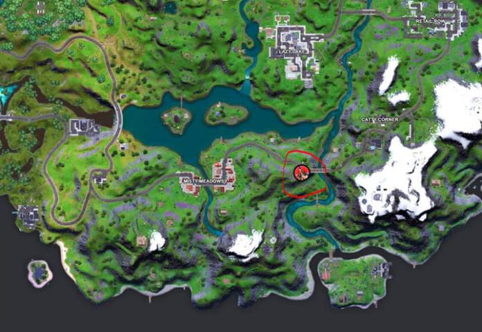 Map of Riot's location in Fortnite.