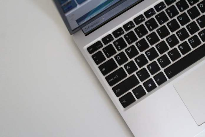 The keyboard of the Framework Laptop, with 1.5mm of key travel.