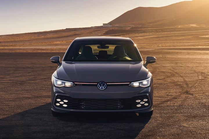 Front view of the 2022 Volkswagen Golf GTI.