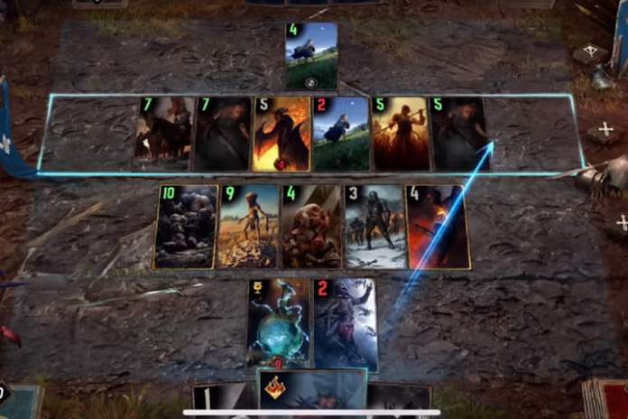Gwent game in progress.