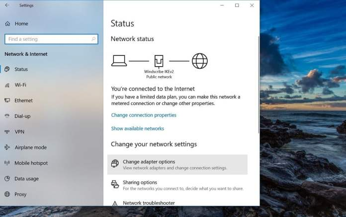 How to Use VPN on PS4 Network Connection Change Adapter Options change