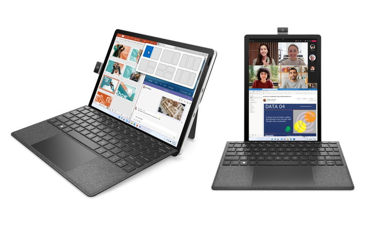 The HP 11-Inch Tablet in portrait or landscape mode.