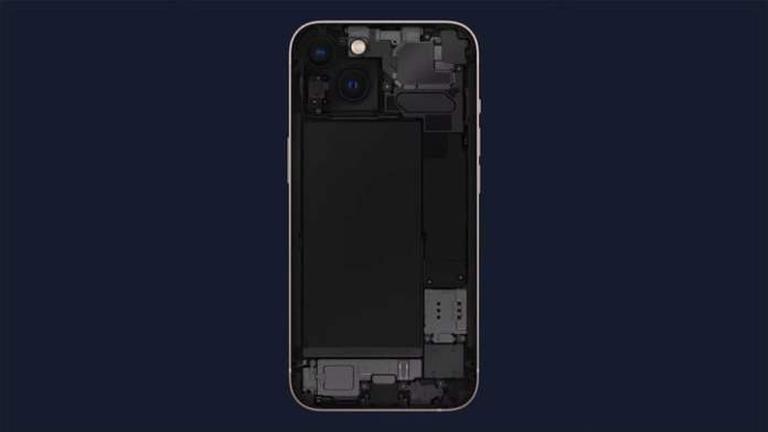 A look inside the iPhone 13.