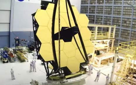 Watch NASA open Webb Space Telescope's mirror one last time before launch