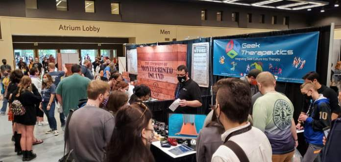 PAX.  Crowds gathered to hear from a booth of