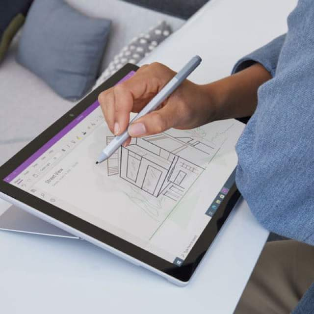 User drawing on a Microsoft Surface Pro 7.