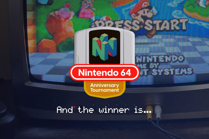 N64 tournament Winner badge with text that reads