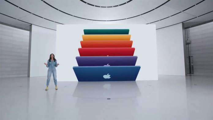 New iMac at Apple spring event