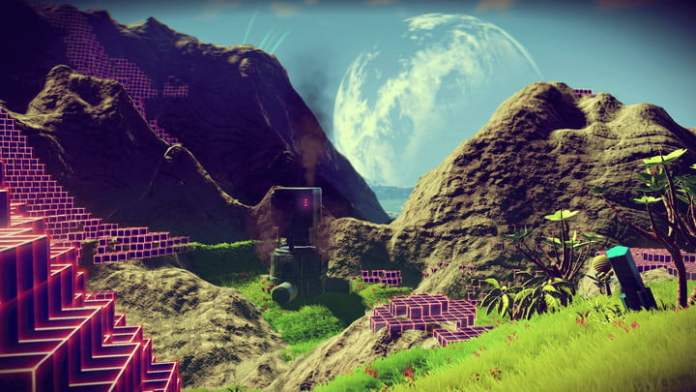 View of the planet's surface in No Man's Sky.