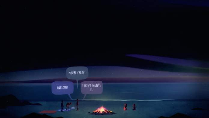 Dialog options in Oxenfree II.