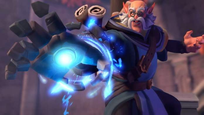 A wizards casts a spell in Paladins: Champions of the Realm.