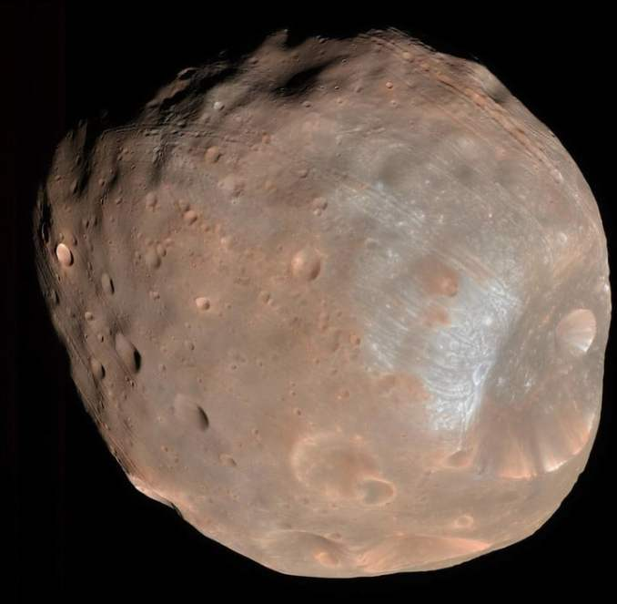 Phobos taken by the High Resolution Imaging Science Experiment camera.