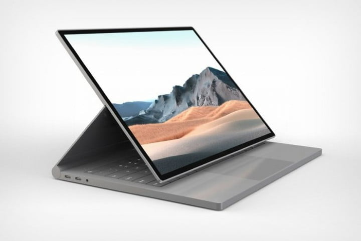 An unofficial concept of the rumored Surface Book 4.