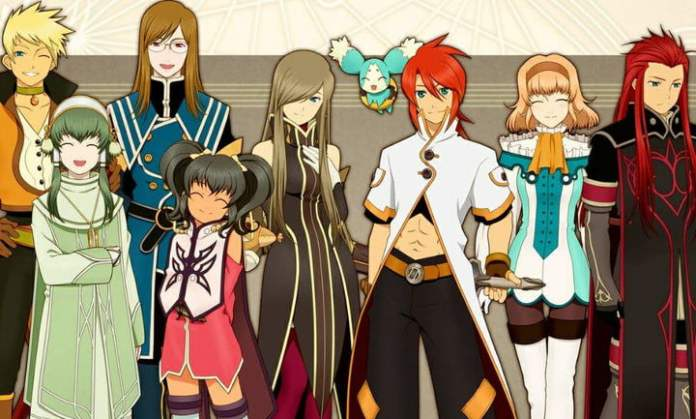 The cast of Tales of the Abyss smiling.