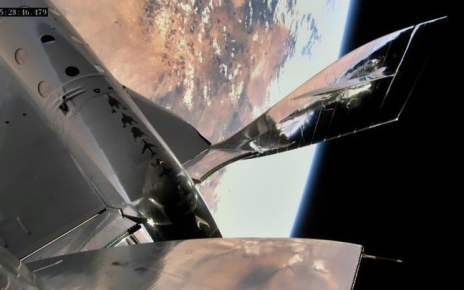 Virgin Galactic spaceplane makes it to boundary of space on third test flight