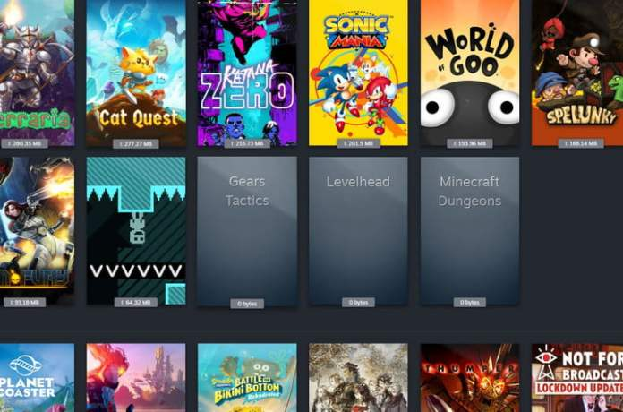 UWP apps are listed in Steam.