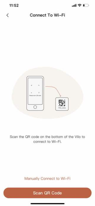 QR code on the bottom of the Velo to add the unit to your home mesh setup.