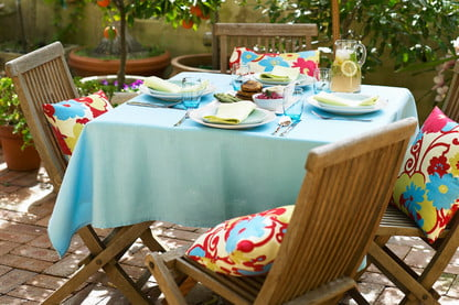 clean outdoor patio cushions the right