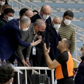 Büyükçekmece Basketbol - Galatasaray maçında olay çıktı