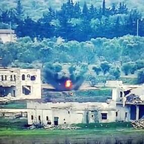 Suriye'de saldırı hazırlığındaki teröristlerin vurulma anı