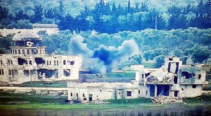 Suriye de saldırı hazırlığındaki teröristlerin vurulma anı #3