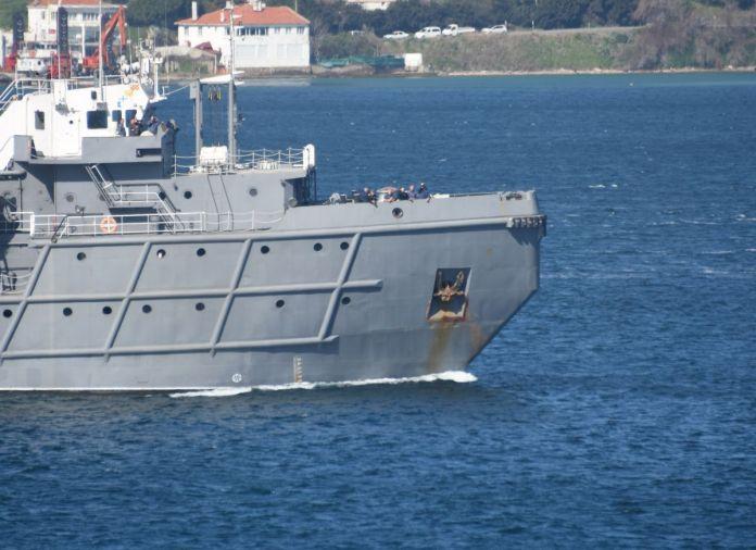Romanya savaş gemisi Çanakkale Boğazı'ndan geçti #3