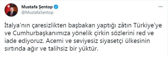 Mustafa Şentop: Cumhurbaşkanımıza yönelik çirkin sözleri iade ediyoruz #1