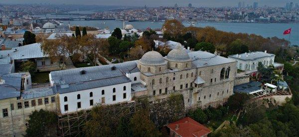 Restorasyon geçiren Topkapı Sarayı havadan görüntülendi