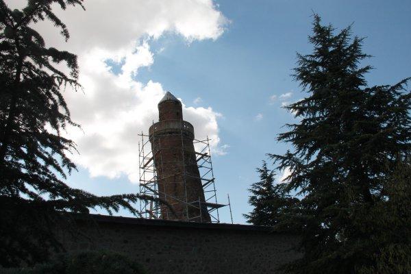 Pisa Kulesi'nden bile eğik olan minare ve dut ağacı