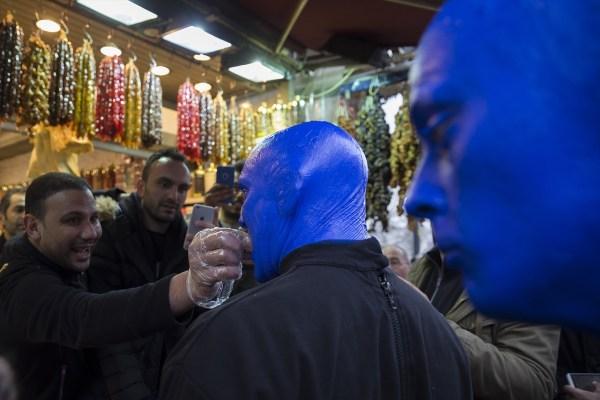 Blue Man Group İstanbul sokaklarında