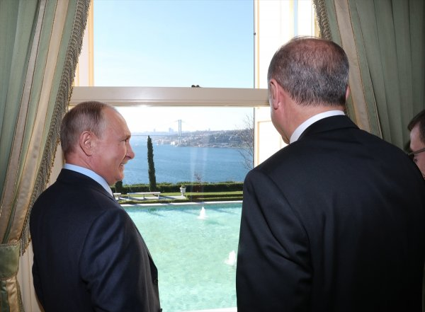 Erdoğan ile Putin Vahdettin Köşkü'nde