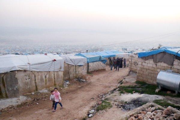 YPG'lilerin hedefi olan kamp havadan görüntülendi