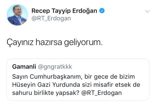 Erdoğan sahurda öğrencilere misafir oldu