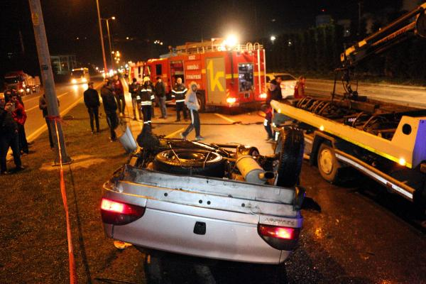 Alkollüarkadaşının yerine kazayı üstlenmeye çalıştı