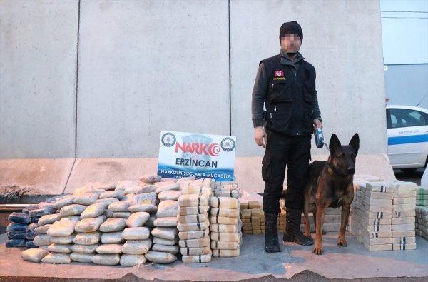 Erzincan'da 1 ton 271 kilo eroin yakalandı